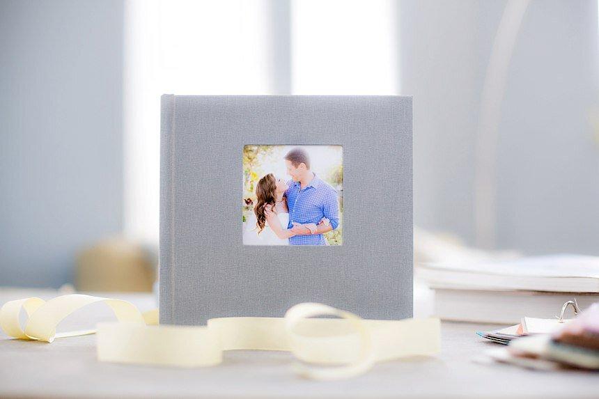 Linen Engagement Albums by Clove & Kin