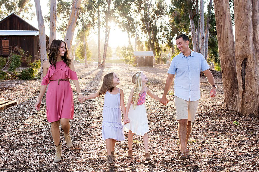 Olivenhain Town Hall Family Portraits | The Golshani Family
