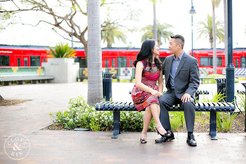 Santa Fe Train Depot and Marian Bear Park Engagement | Brandon & Christine
