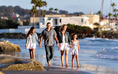 Del Mar Beach Family Portraits | The Toplitz Family